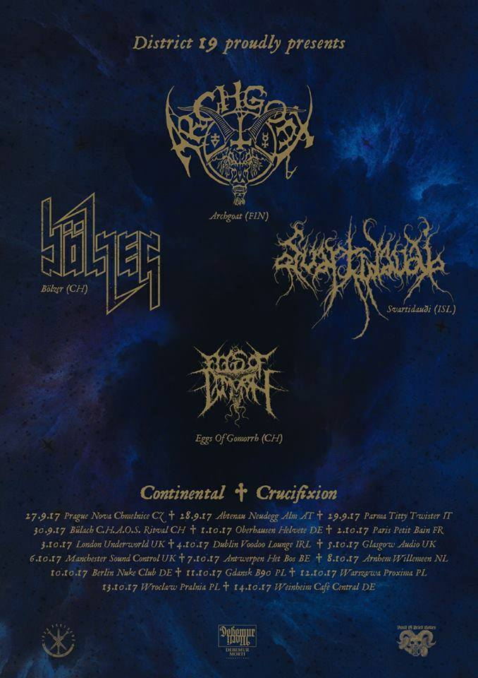 Continental Crucifixion – Tour 2017 – 14.10.2017 – Weinheim