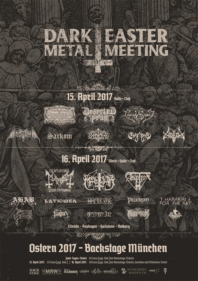 Dark Easter Metal Meeting – 15./16.04.2017 – München